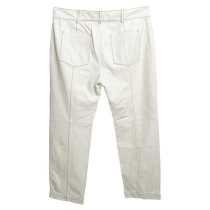 Other Designer Cris Barros - Leather Trousers in White