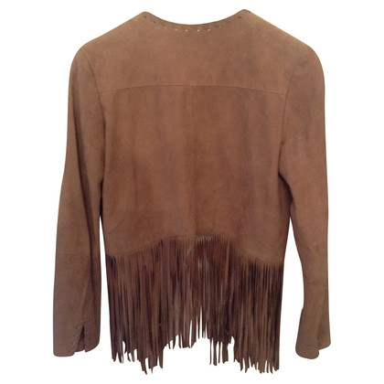 Steffen Schraut Soft leather fringe jacket