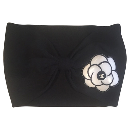 Chanel Headband with camellia brooch