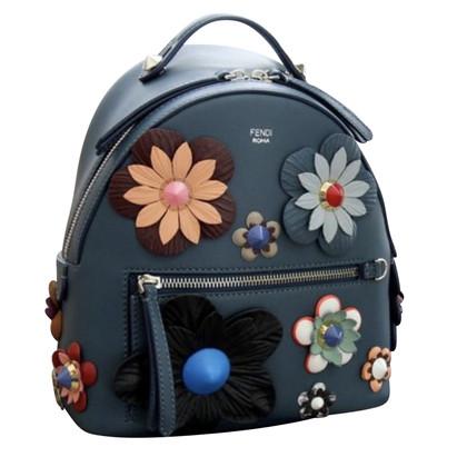 Fendi Sac à dos avec appliques de fleurs