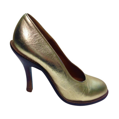 Dries van Noten Goudkleurige pumps