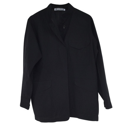 Jil Sander zwarte jas