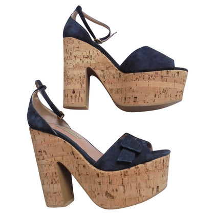 L'autre Chose Plateausandalette in blue