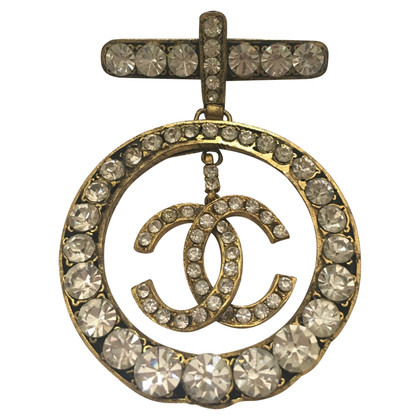Chanel Brooch with Rhinestones