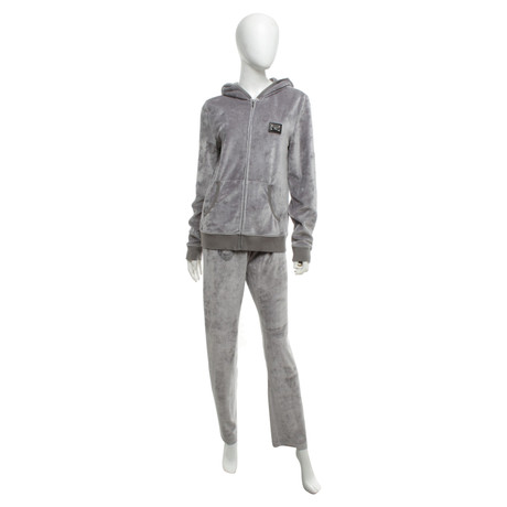 Philipp Plein Home-Anzug in Nicki-Optik Grau