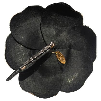 Chanel zwart fluwelen Camelia