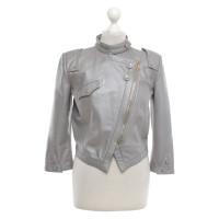 Matthew Williamson Leather jacket in grey