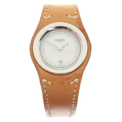 Hermès orologio da polso in pelle