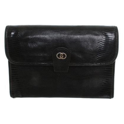 Gucci clutch made of lizard leather