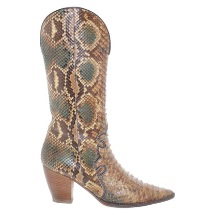 Walter Steiger Ankle boots made of python leather