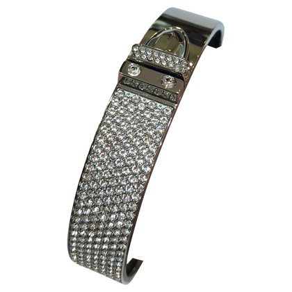 Swarovski Silver-colored bangle with rhinestone trim