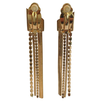 Daniel Swarovski Long gold earrings