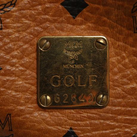MCM Reise-Golfbag mit Monogramm-Muster Braun Offizieller Online-Verkauf Niedriger Preis Günstiger Preis Für Günstig Online Finish Günstiger Preis RWy7LV