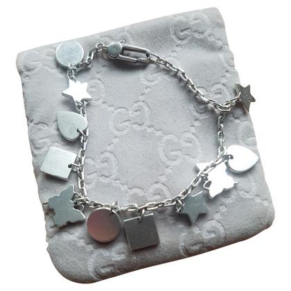 Gucci Bracciale in argento con ciondoli