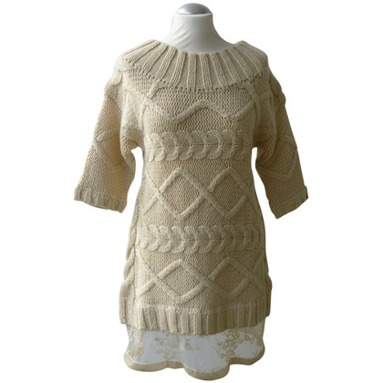 Twin-Set Simona Barbieri Long sweater with lace