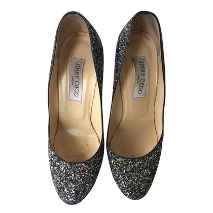 Jimmy Choo pumps con glitter assetto