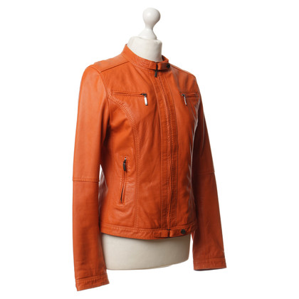 Oakwood Lederjacke in Orange