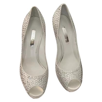 Casadei Peep-toes with rhinestones
