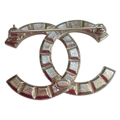 Chanel CC brooch with rivets