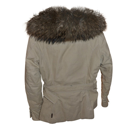Moncler down jacket with fur