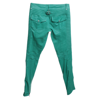 Balmain Lambskin trousers in green