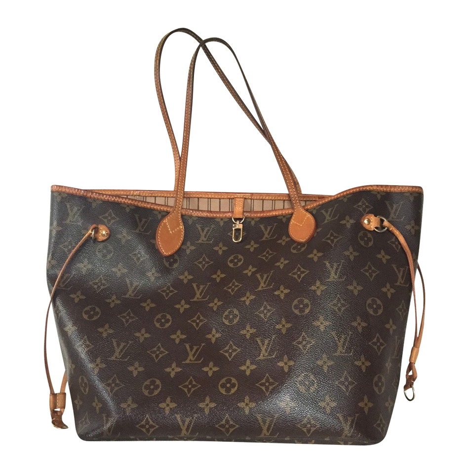 louis vuitton neverfull mm monogram canvas second hand louis vuitton neverfull mm monogram. Black Bedroom Furniture Sets. Home Design Ideas