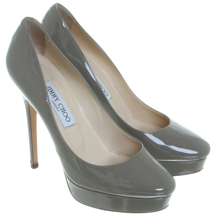 Jimmy Choo Peep toe pumps in Taupe
