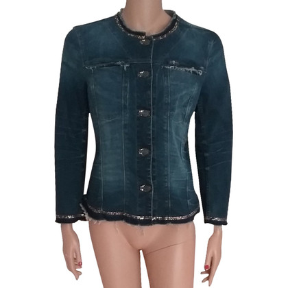 7 For All Mankind Veste Jean avec des clous