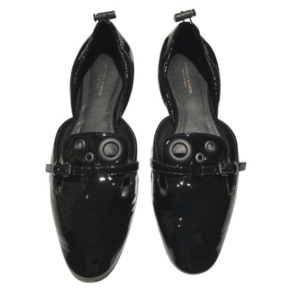 Bottega Veneta Black patent leather ballerinas