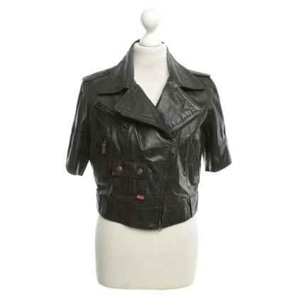 Belstaff giacca di pelle corta