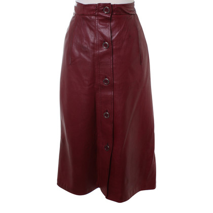 Hermès Leather skirt in Bordeaux
