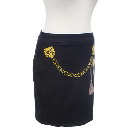 Moschino Love Denim skirt with print