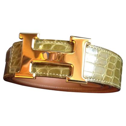 Hermès Crocodile leather belt