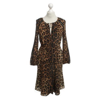 Altuzarra zijden jurk met animal print