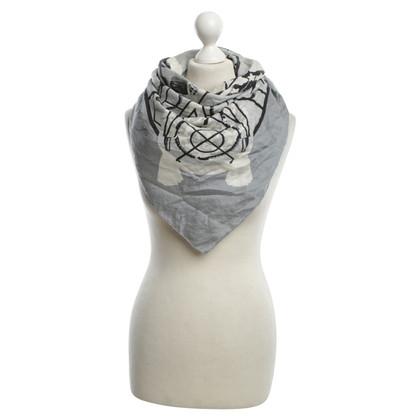 Hermès Cloth in grey / White