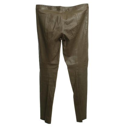 Patrizia Pepe Pantaloni di pelle in oliva