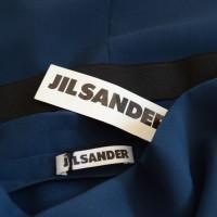 Jil Sander abito blu a fascia
