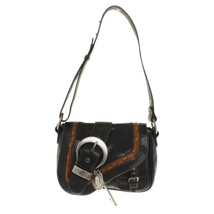 "Christian Dior ""Gaucho Saddle Bag"" in zwart"