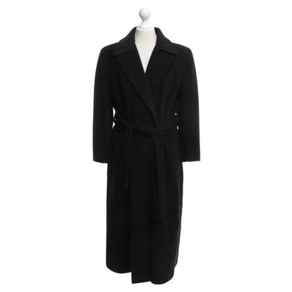 Akris cappotto classico in blu navy