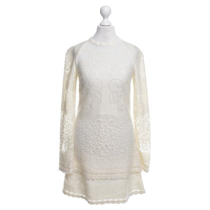 See by Chloé Kanten jurk in cream