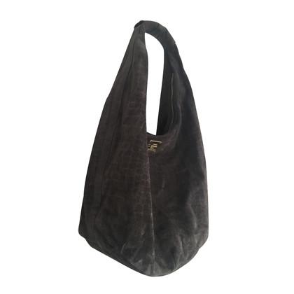 Just Cavalli Gray leather handbag