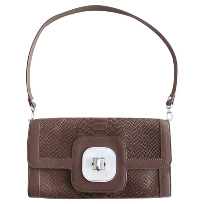 Longchamp Handtasche in Pythonleder-Optik