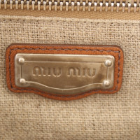 Miu Miu Crochet pocket with leather details