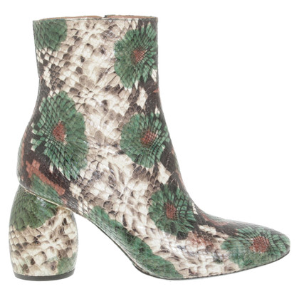 Dries van Noten Boots in Green / Beige