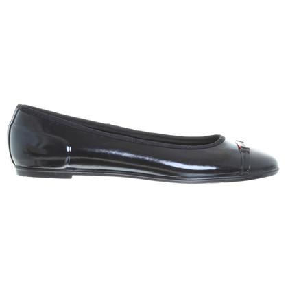 Hunter Ballerinas in black rubber