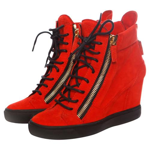 6b88a888969d Giuseppe Zanotti Sneaker wedges in red - Second Hand Giuseppe ...