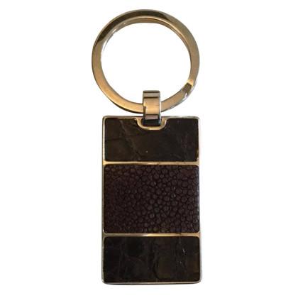 Prada Schlüsselanhänger aus Reptilleder/Metall