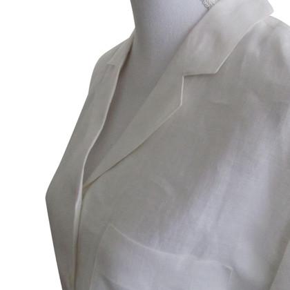 Max Mara White linen blouse