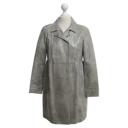 Miu Miu Ledermantel in grey