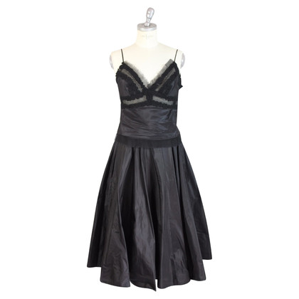 Ermanno Scervino Ermanno Scervino zijden zwarte jurk